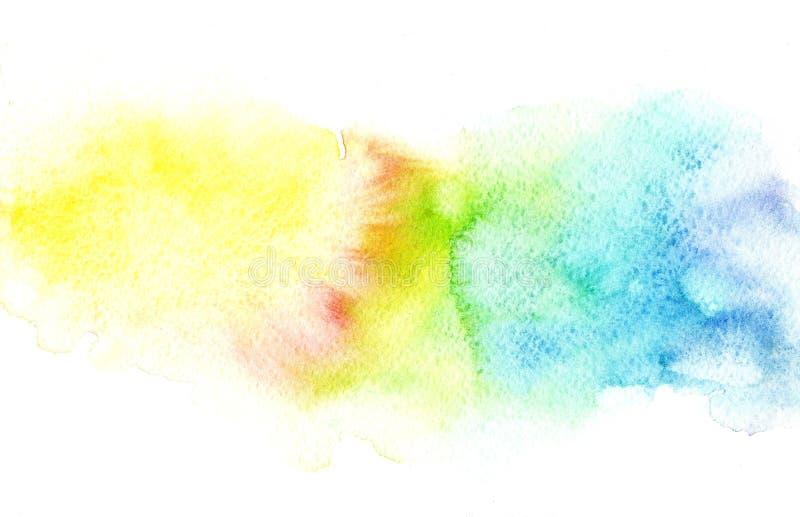Fondo vago acquerello variopinto molle dell'arcobaleno dell'estratto Elemento grafico illustrazione vettoriale