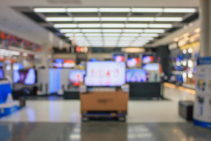 Fondo vago del grande magazzino di Eletronic immagini stock libere da diritti