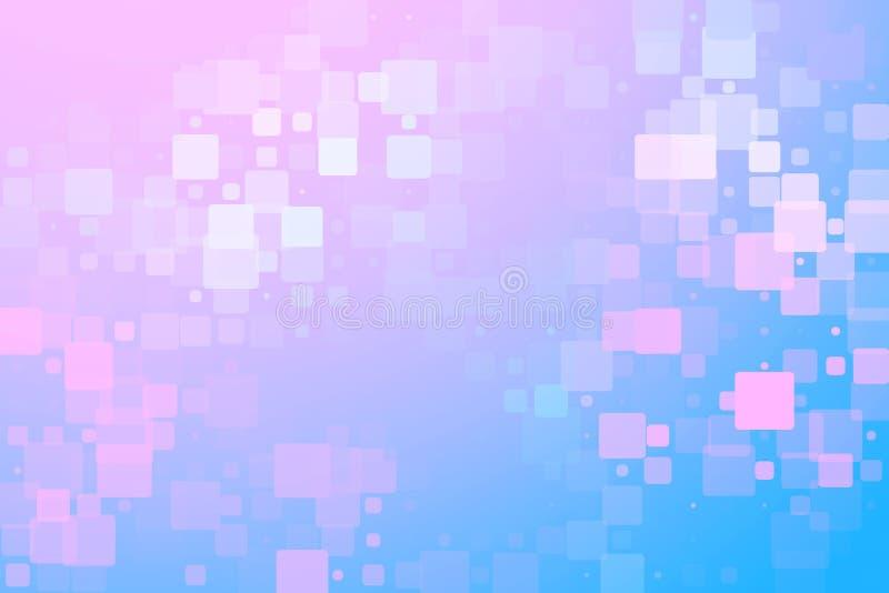 Fondo vario d'ardore delle mattonelle di rosa bianco porpora blu illustrazione vettoriale