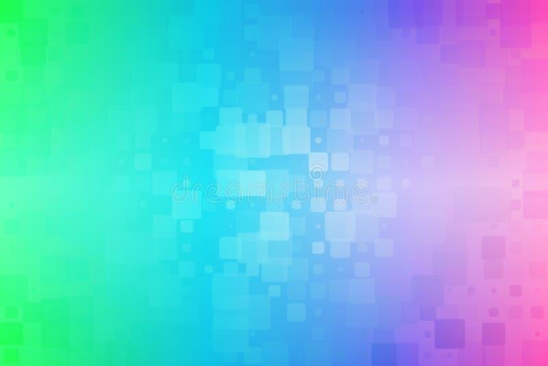 Fondo vario d'ardore delle mattonelle di rosa verde blu illustrazione vettoriale
