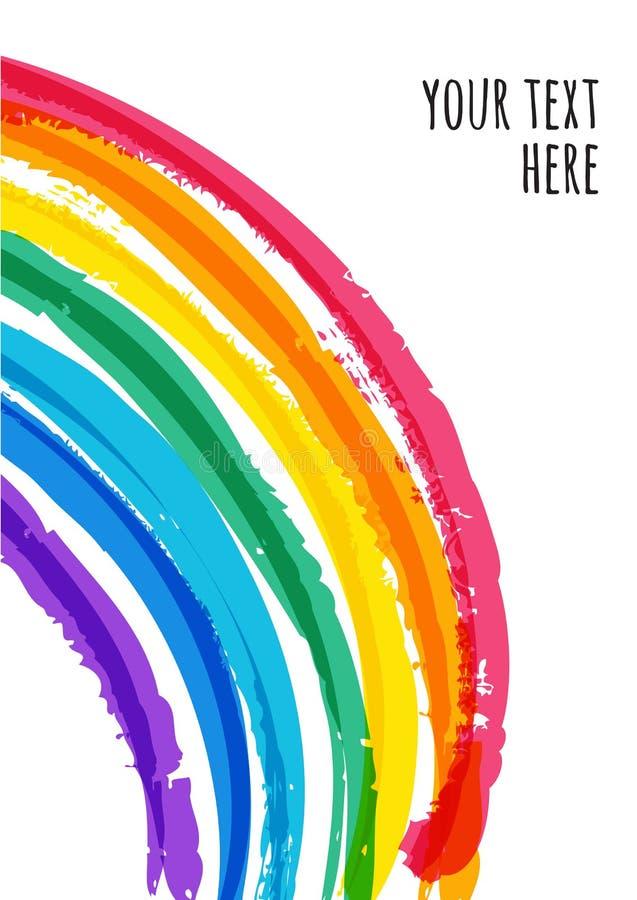 Fondo variopinto astratto dell'arcobaleno dell'acquerello Illustra di vettore royalty illustrazione gratis