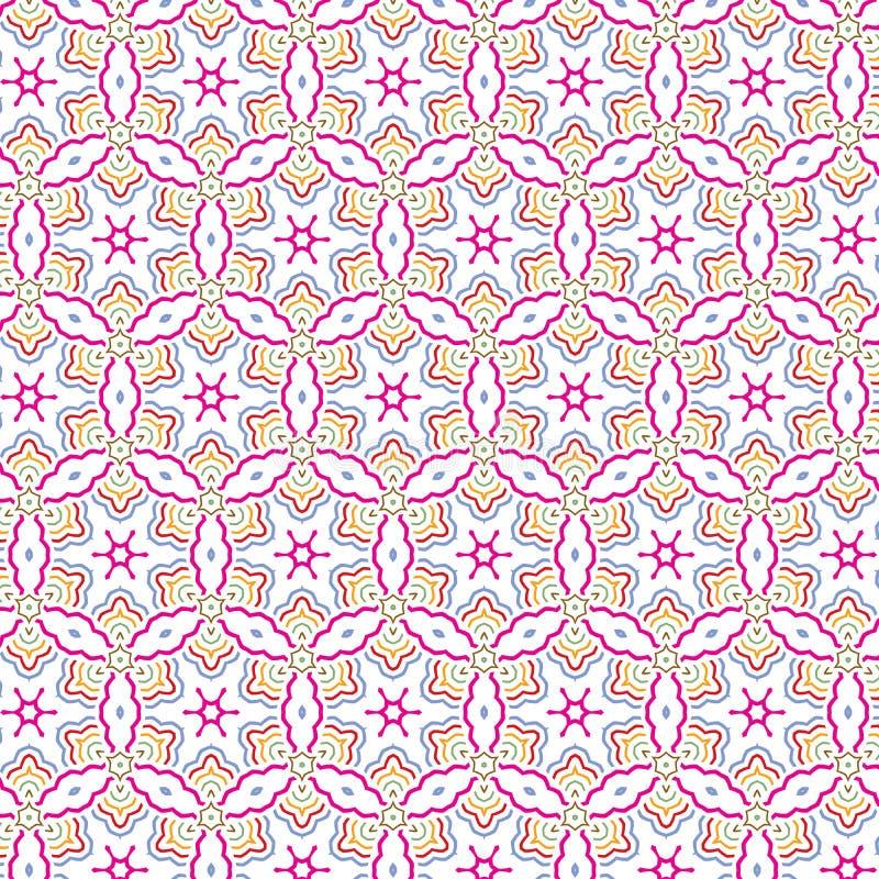 Fondo variopinto astratto di lusso di struttura del modello di illusione del fiore della stella illustrazione di stock