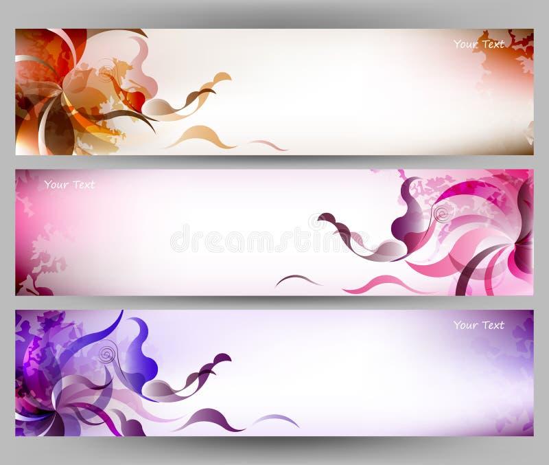 Fondo variopinto astratto di vettore del fiore e della farfalla illustrazione vettoriale