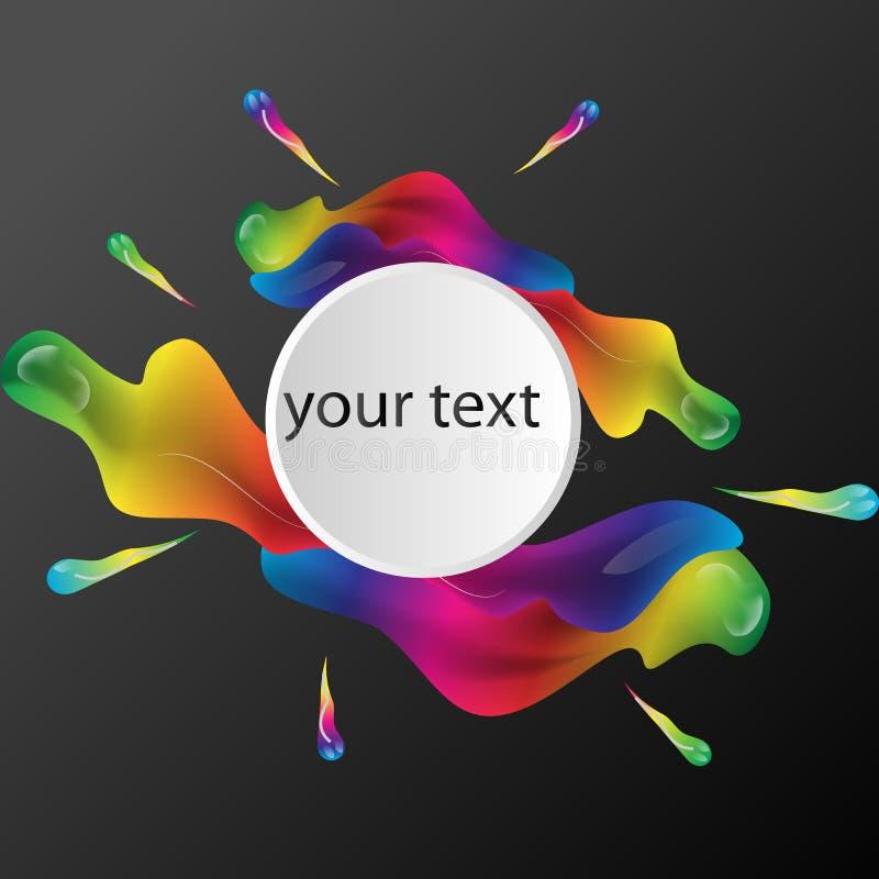 Fondo variopinto astratto di vettore, onda liquida di flusso di colore per l'opuscolo di progettazione, sito Web, aletta di filat illustrazione di stock