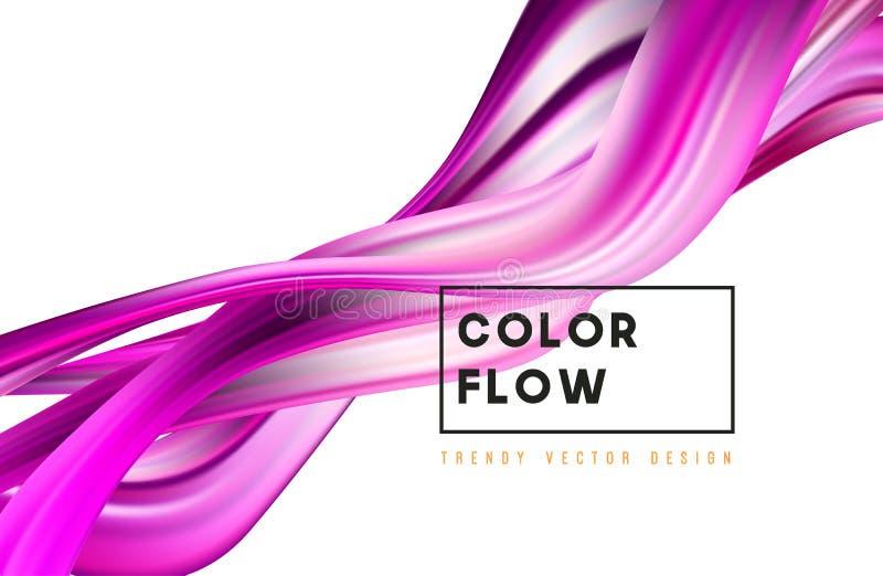 Fondo variopinto astratto di vettore, onda liquida di flusso di colore per l'opuscolo di progettazione, sito Web, aletta di filat illustrazione vettoriale