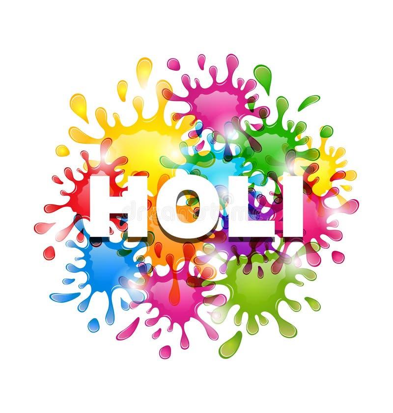 Fondo variopinto con le macchie per il festival indiano Holi Celebrat illustrazione di stock