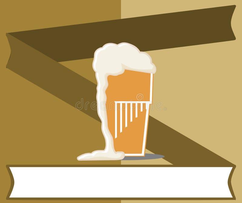 Fondo variopinto con vetro di birra royalty illustrazione gratis