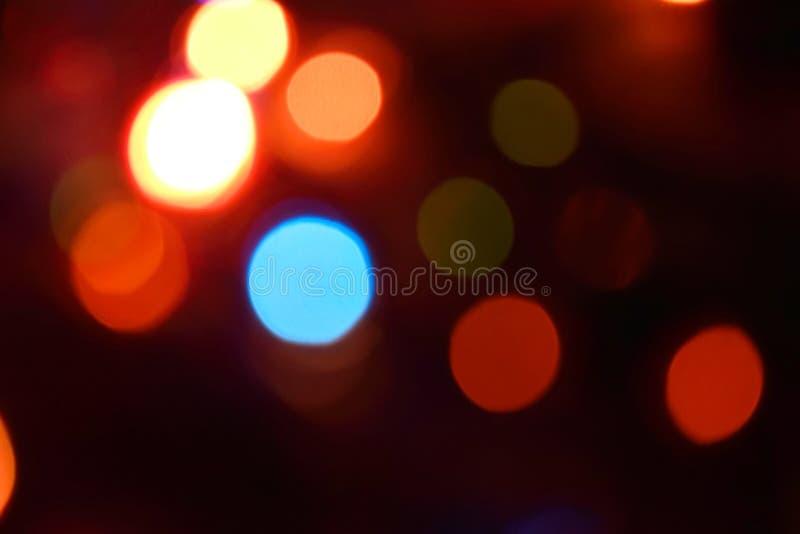 Fondo variopinto del bokeh delle luci, Chrismas fotografia stock