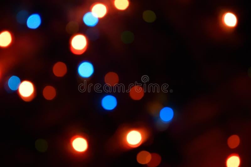 Fondo variopinto del bokeh delle luci, Chrismas immagini stock libere da diritti