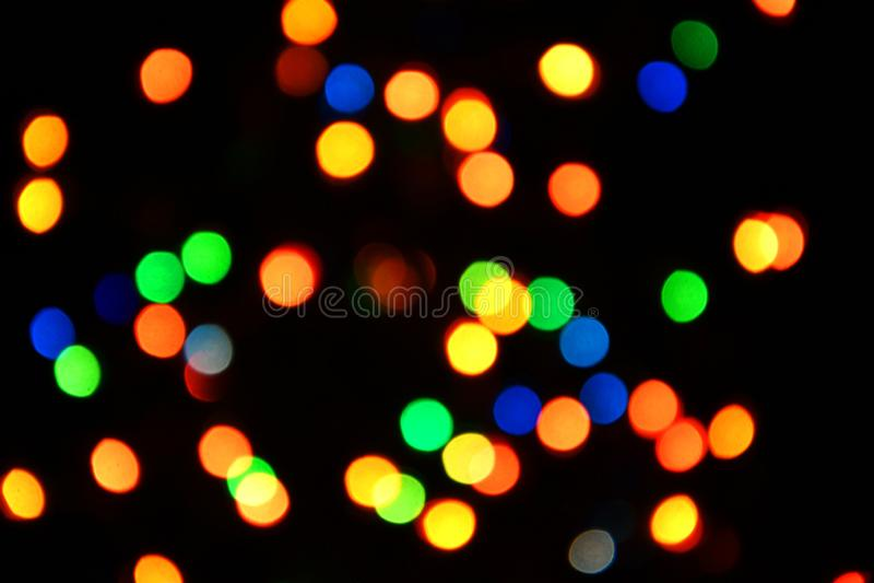Fondo variopinto del bokeh delle luci, Chrismas immagine stock