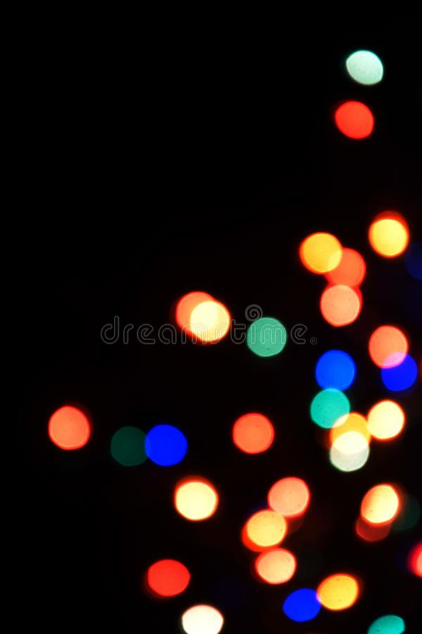Fondo variopinto del bokeh delle luci, Chrismas fotografia stock libera da diritti
