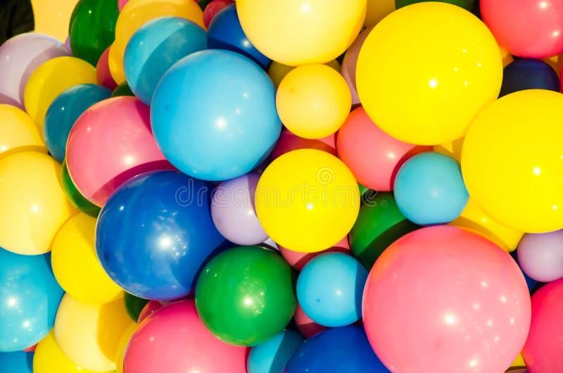Fondo variopinto del pallone in pastello fotografie stock