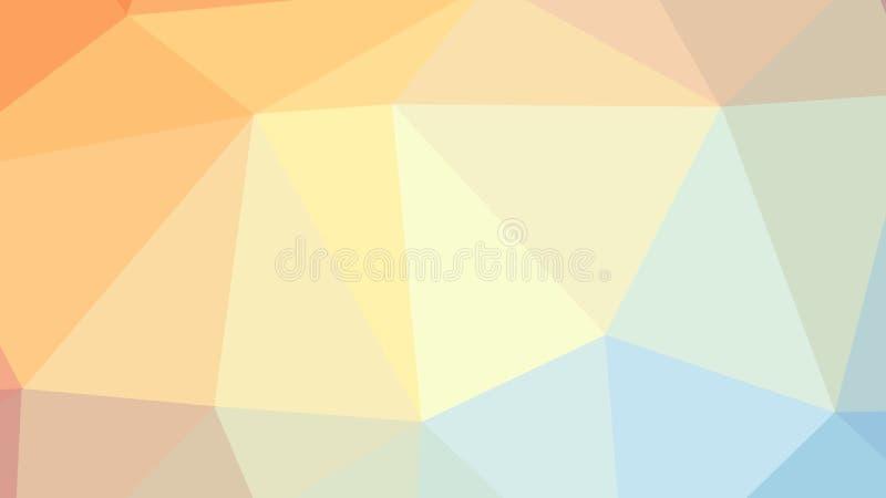 fondo variopinto del poligono del triangolo dell'estratto 8K illustrazione di stock