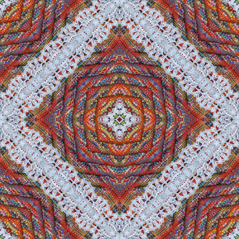 Fondo variopinto del tessuto di tessuto del cotone, contesto per l'album per ritagli, vista superiore Collage di riflessione di s immagine stock