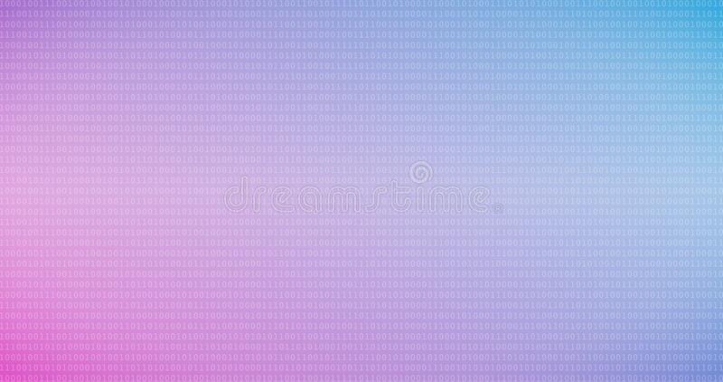 Fondo variopinto di codice binario con le cifre una e zero sullo schermo fotografia stock