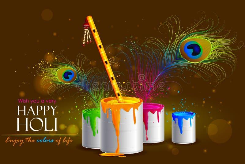 Fondo variopinto di Holi royalty illustrazione gratis