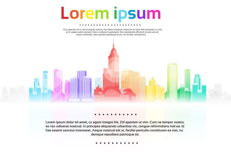 Download Fondo Variopinto Di Paesaggio Urbano Di Vista Del Grattacielo Della Città Illustrazione di Stock - Illustrazione di moderno, commercio: 56879175