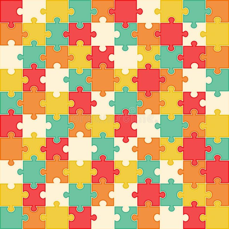 Fondo variopinto di puzzle, illustrazione di vettore royalty illustrazione gratis