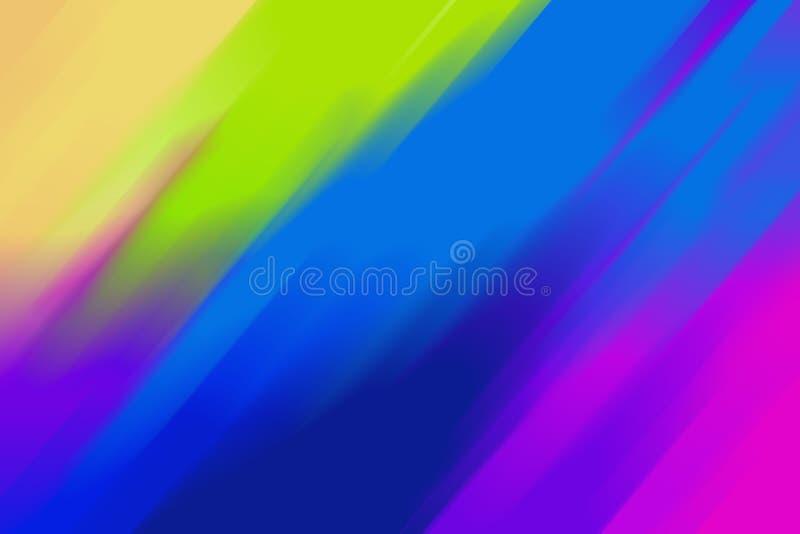 Fondo variopinto luminoso dell'arcobaleno con le linee astratte royalty illustrazione gratis
