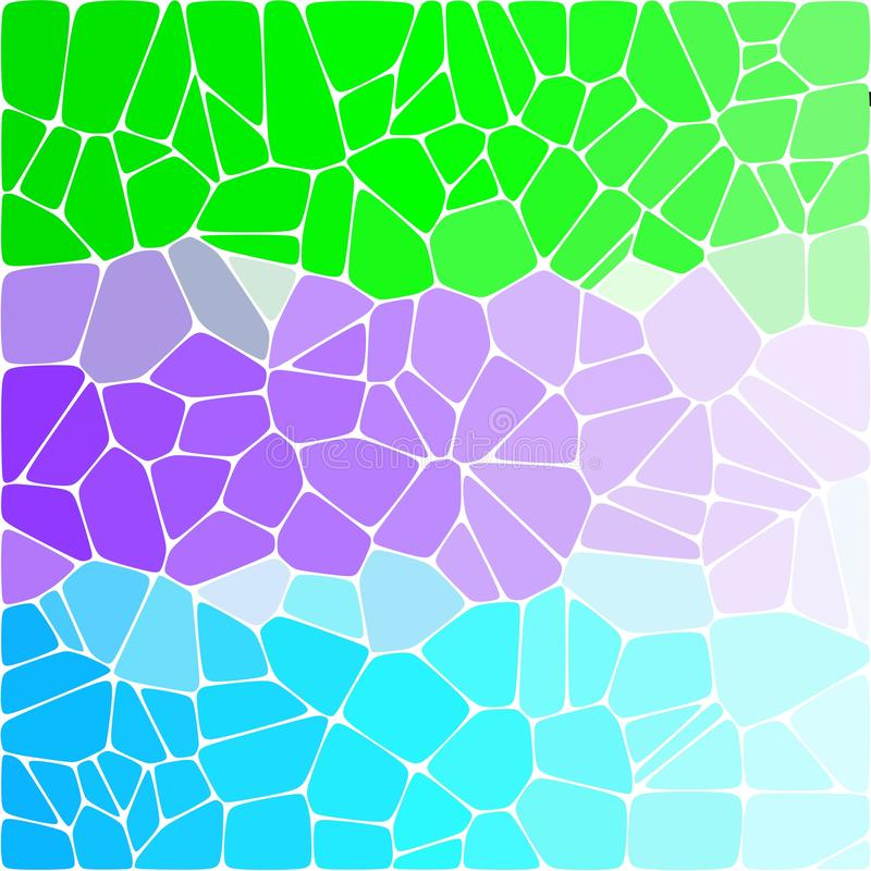 Fondo variopinto luminoso tricolore Ciottoli colorati verde, blu, porpora - Vektorgrafik illustrazione vettoriale
