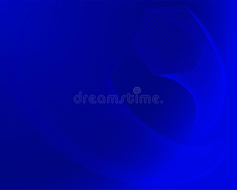 Fondo variopinto moderno di esagoni geometrici nei colori blu scuro illustrazione di stock