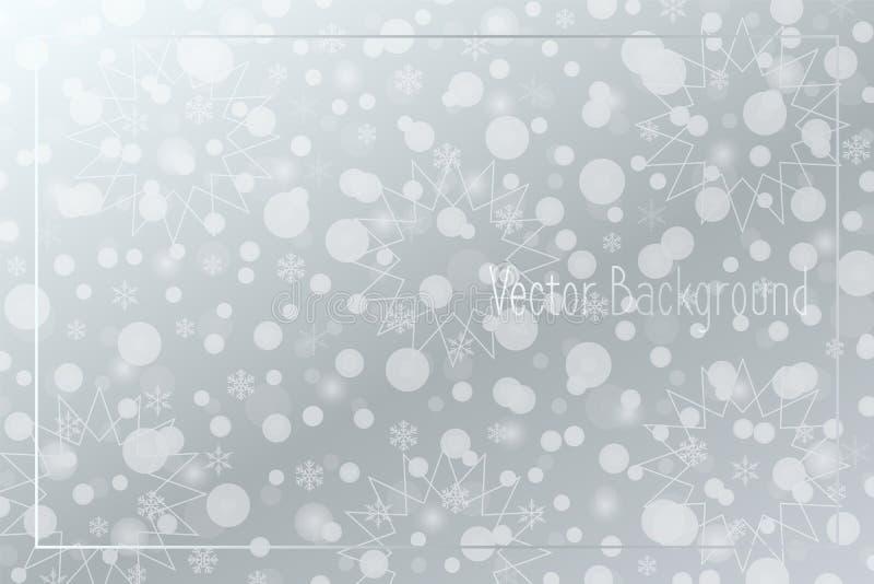 Fondo vectorial Snowflakes Patrón de nieve Ilustración navideña para decoración, vacaciones de invierno, marco, tarjeta de felici libre illustration