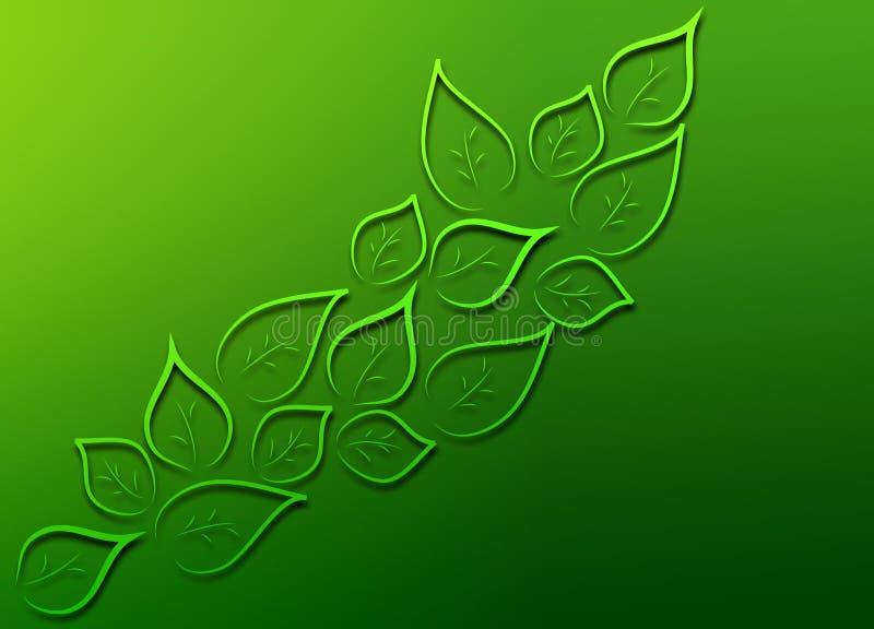 Fondo verde ilustración del vector
