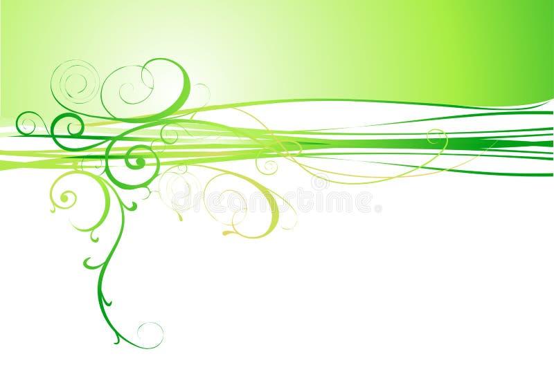 Fondo verde abstracto de la flor ilustración del vector