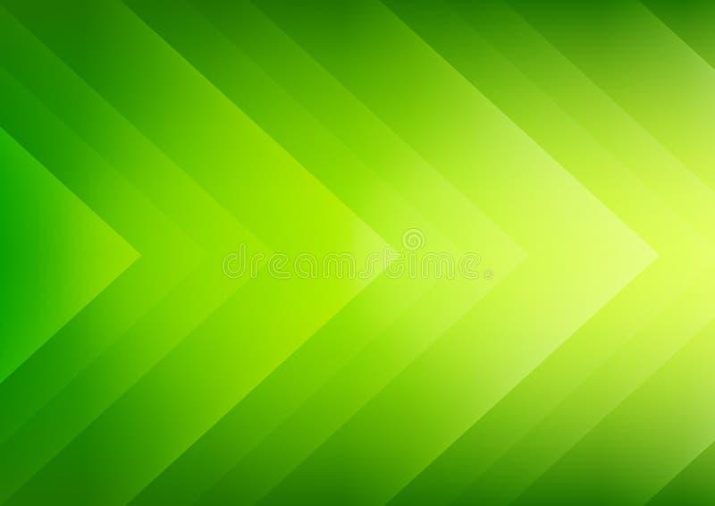 Fondo verde abstracto de las flechas del eco