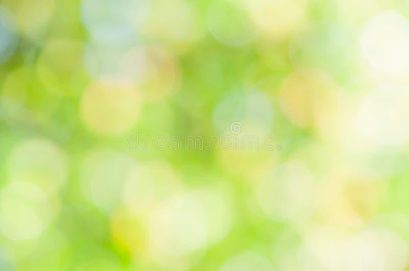 Fondo verde abstracto Defocused fotografía de archivo