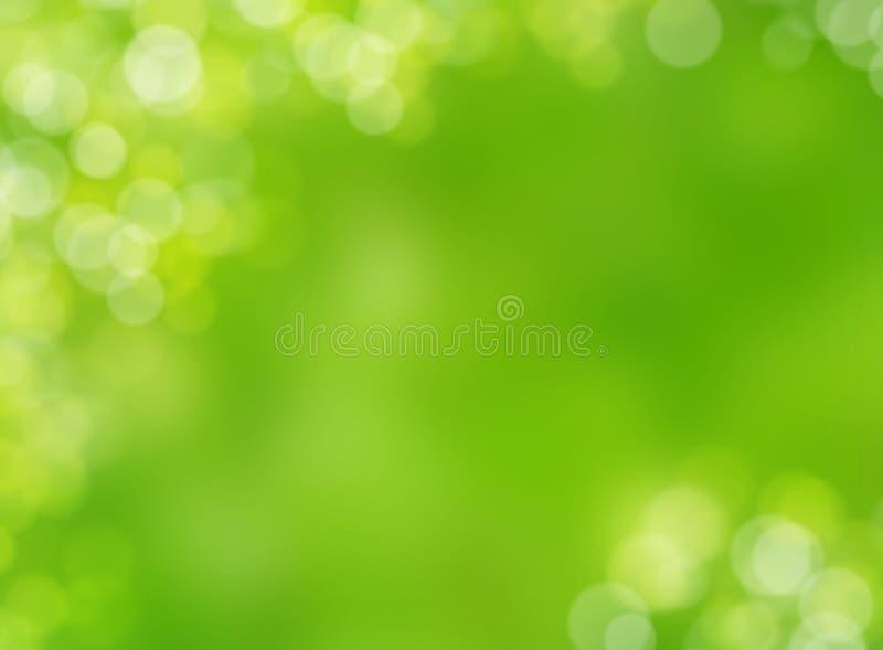 Fondo verde abstracto del bokeh de la luz de la falta de definición de la naturaleza del otoño fotografía de archivo libre de regalías