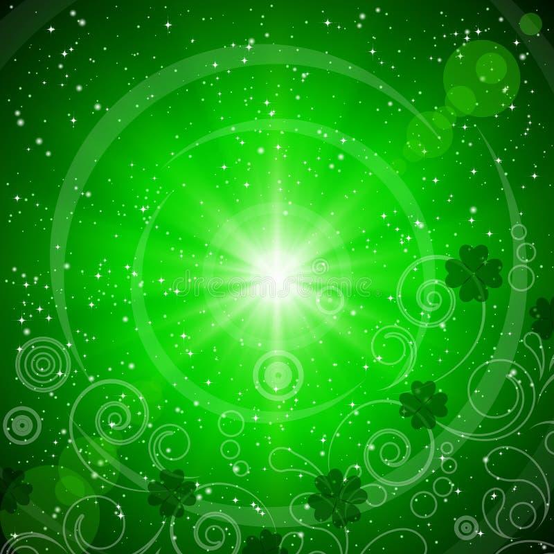 Fondo verde abstracto para el día del St. Patrick. ilustración del vector