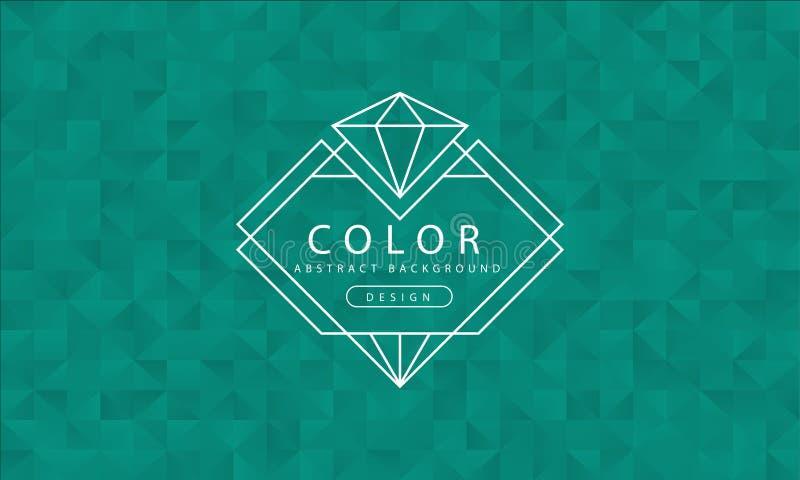 Fondo verde abstracto, texturas verdes, papel pintado del verde de la bandera, color verde del polígono, ejemplo del vector libre illustration