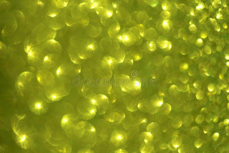 Fondo verde-amarillo abstracto borroso con el efecto del brillo y del resplandor fotografía de archivo libre de regalías