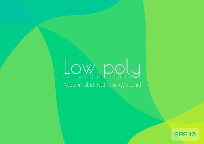 Fondo verde amarillo azul polivinílico bajo del extracto Los triángulos geométricos texturizaron vector stock de ilustración