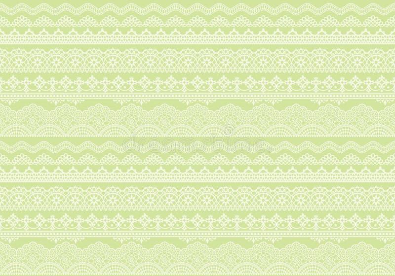 Fondo verde amarillo de los ajustes del cordón ilustración del vector