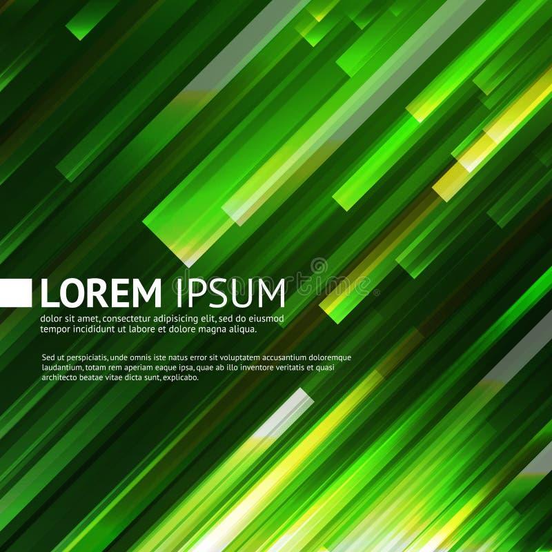 Fondo verde astratto con effetto della luce illustrazione di stock