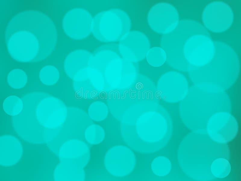 Fondo verde astratto del bokeh del ciclo fotografia stock
