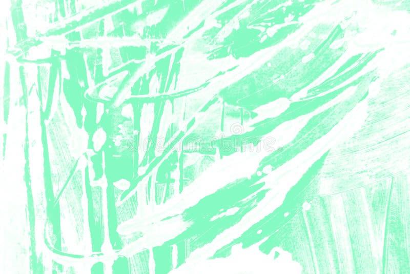 Fondo verde blu dei colpi del pennello della menta bianca immagine stock libera da diritti