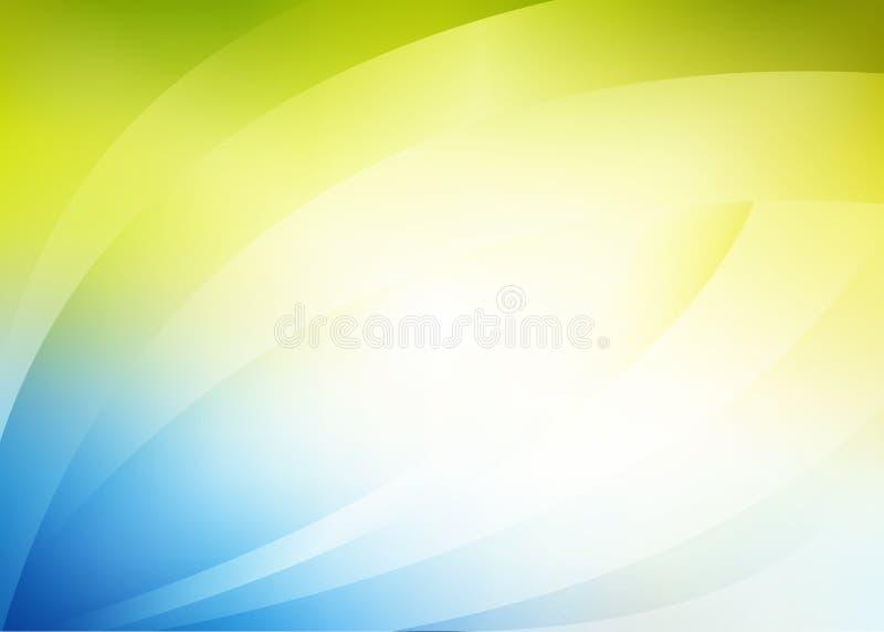 Fondo verde blu di Adstract illustrazione vettoriale