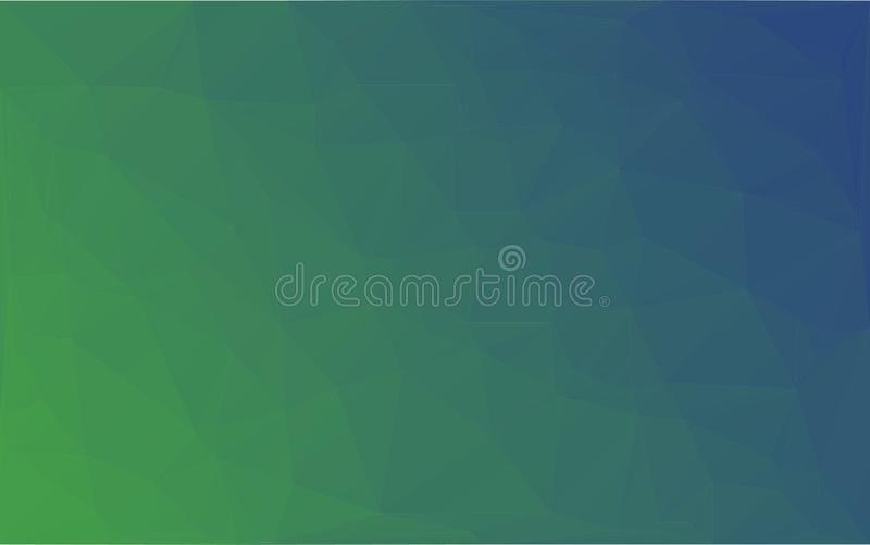Fondo verde blu di vettore astratto del mosaico del poligono illustrazione di stock