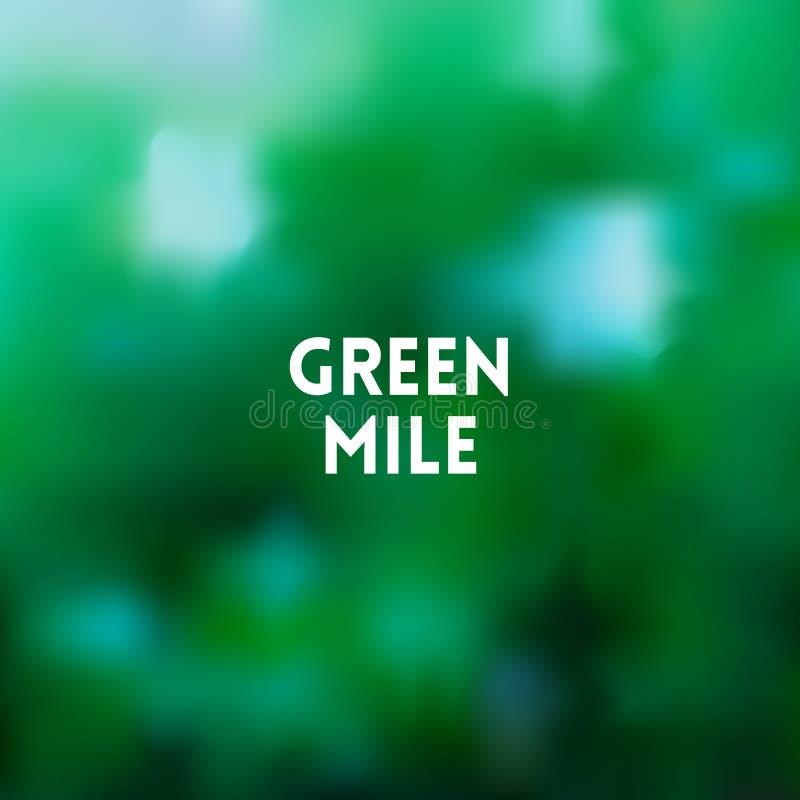 Fondo verde borroso cuadrado de la primavera de los árboles - con cita de la motivación ilustración del vector