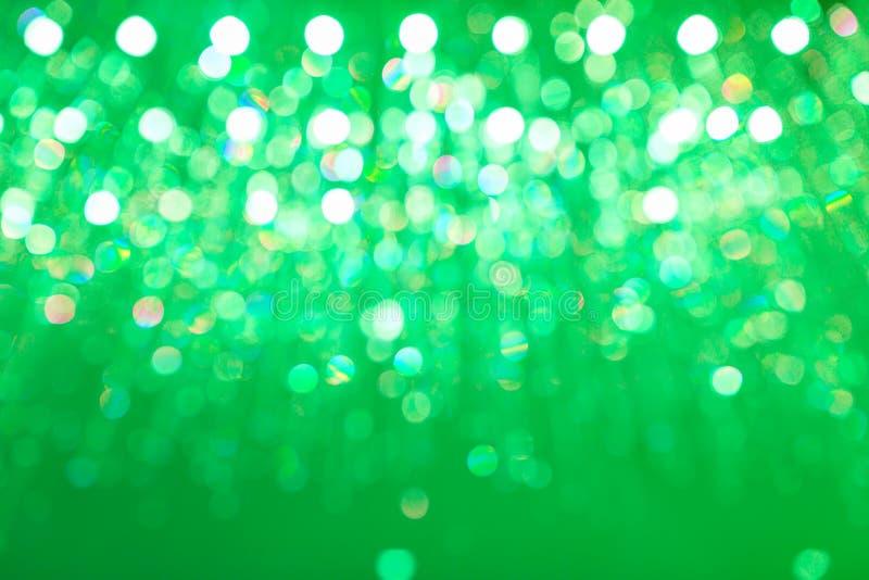 Fondo verde circular ligero abstracto del bokeh fotografía de archivo