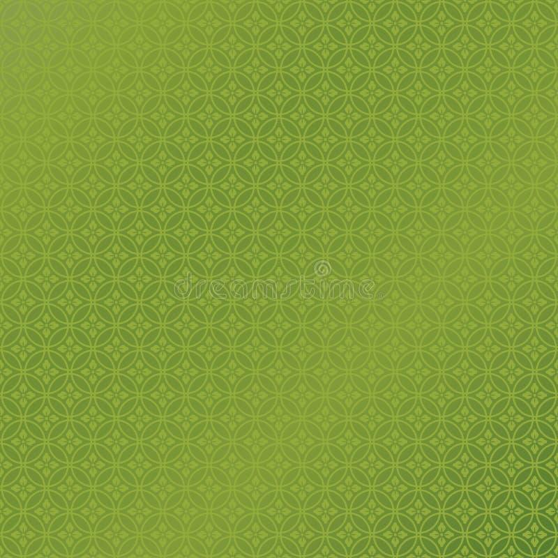 Fondo verde con diseño tradicional japonés imagen del té verde ilustración del vector