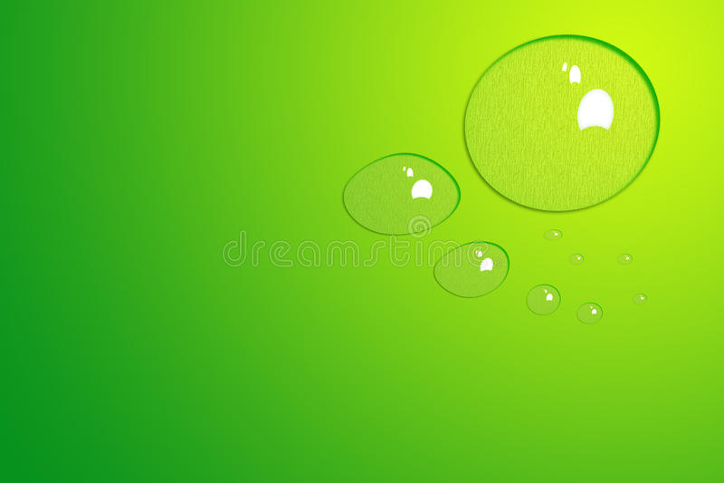 Fondo verde con gotas del agua imágenes de archivo libres de regalías