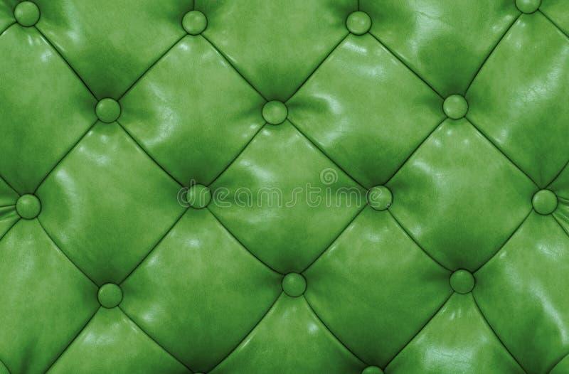 Fondo verde de cuero del modelo de la tapicería fotografía de archivo libre de regalías
