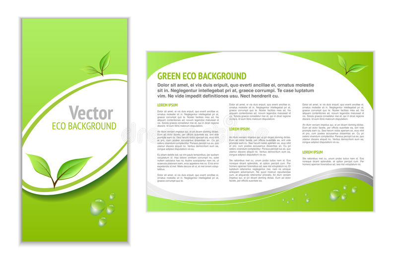 Fondo verde de Eco libre illustration