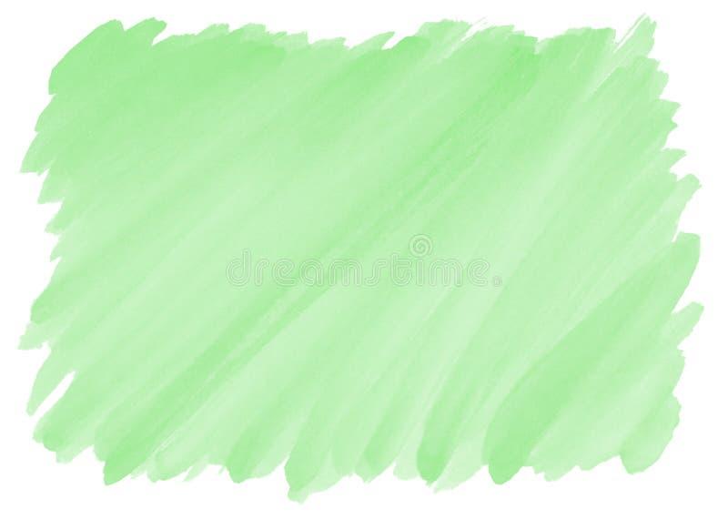 Fondo verde de la acuarela con el modelo de la pincelada fotos de archivo libres de regalías