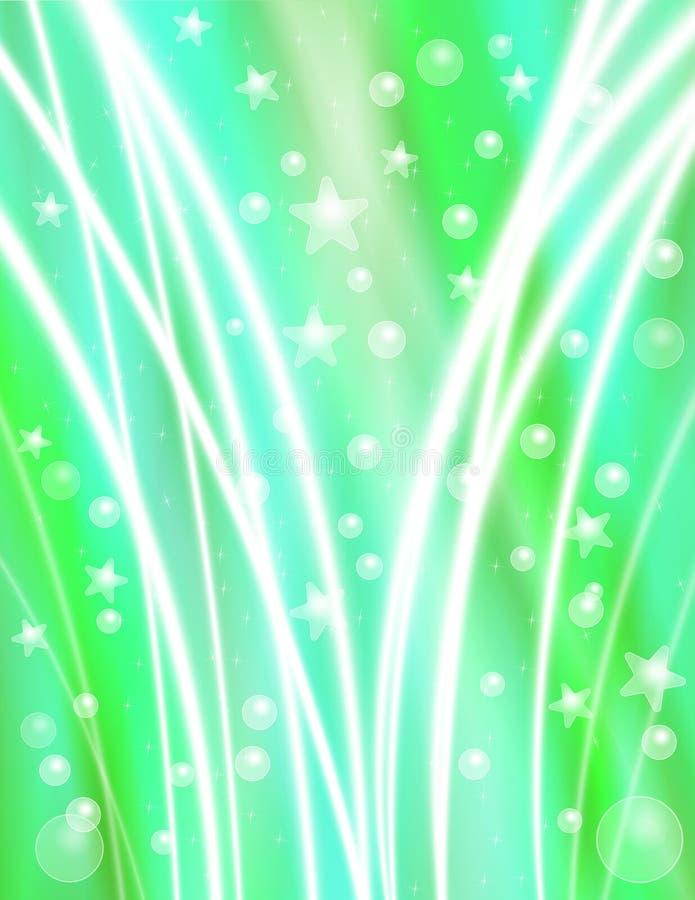 Fondo verde de la celebración stock de ilustración
