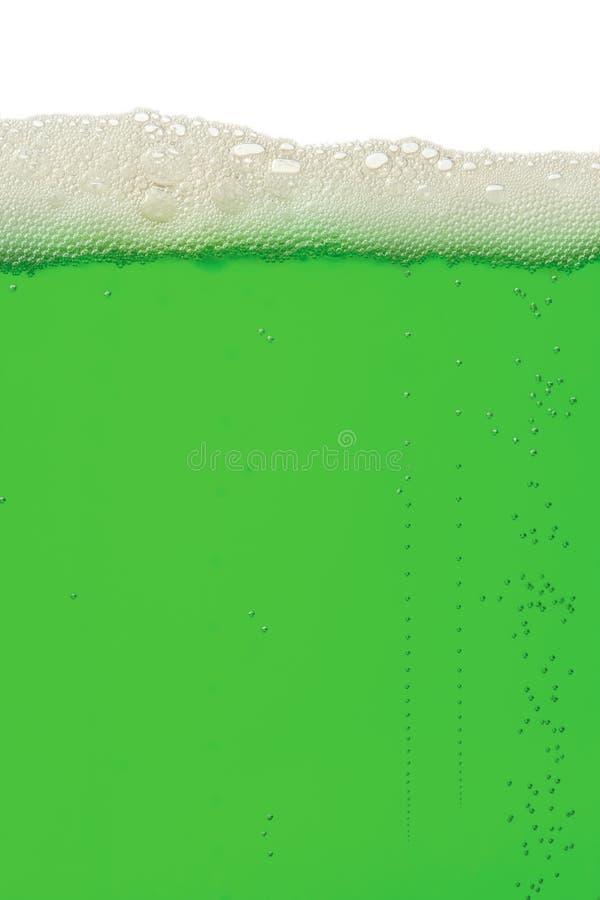 Fondo verde de la cerveza fotografía de archivo